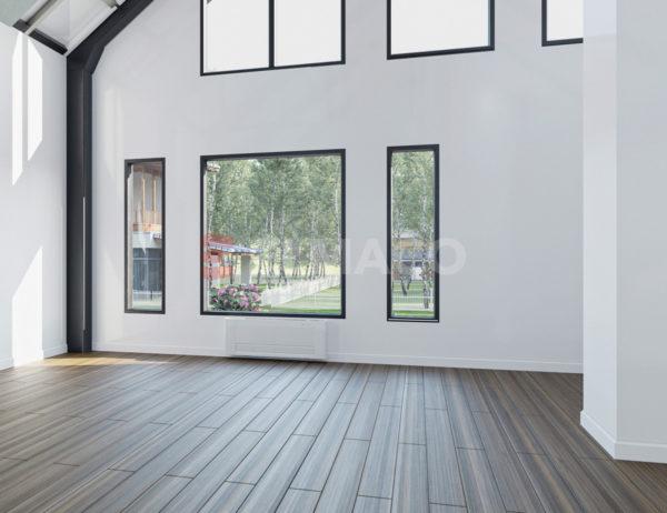 Вариант внутренней отделки дома из металлокаркаса