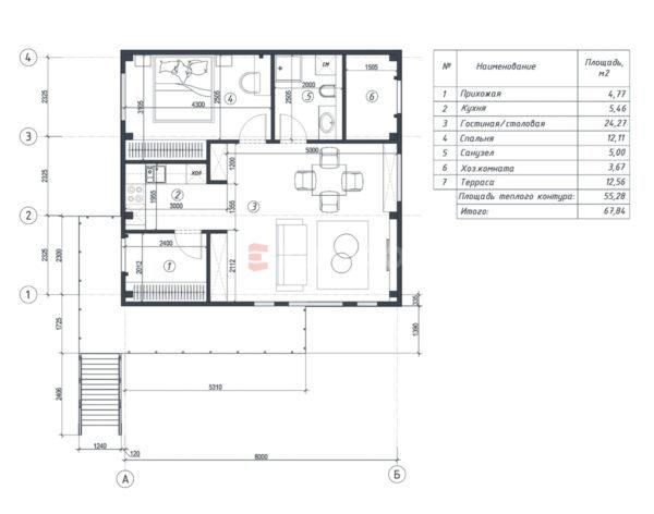 Планировка дома из металлического каркаса
