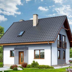 Фасад дома из СИП-панелей
