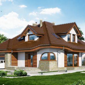 Фасад дома из сэндвич-панелей